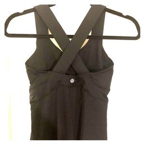 Lululemon Athletica Black Cross Back Yoga Tank Top